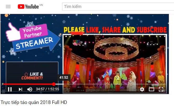 Táo quân 2018 bị vi phạm bản quyền trên YouTube - 1