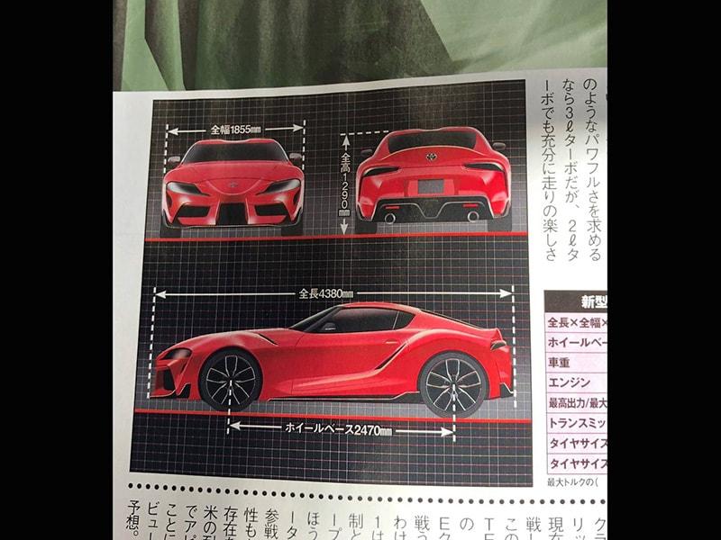 Toyota Supra 2019 rò rỉ trên một tạp chí tại Nhật Bản? - 2