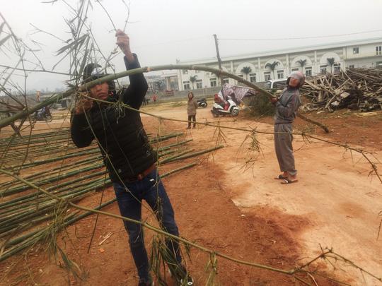 Độc đáo chợ bán cây nêu ngày Tết - 2
