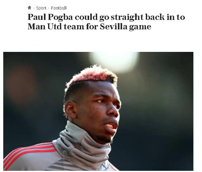 MU dễ mất 8 SAO đấu Sevilla: Nghi án Pogba dối Mourinho - 3