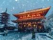Vẻ lãng mạn của thành phố Tokyo dưới mưa tuyết