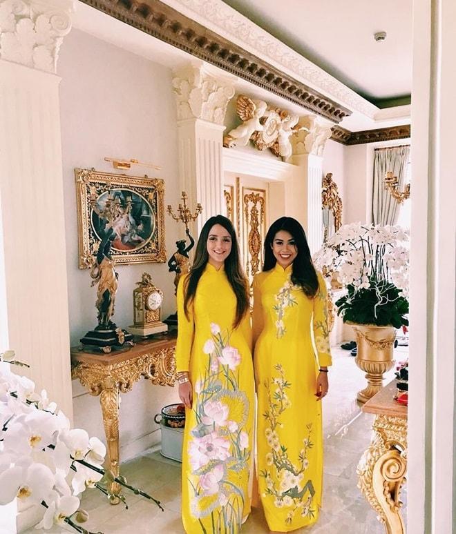 Gia đình Tăng Thanh Hà diện áo dài đón Tết - 3
