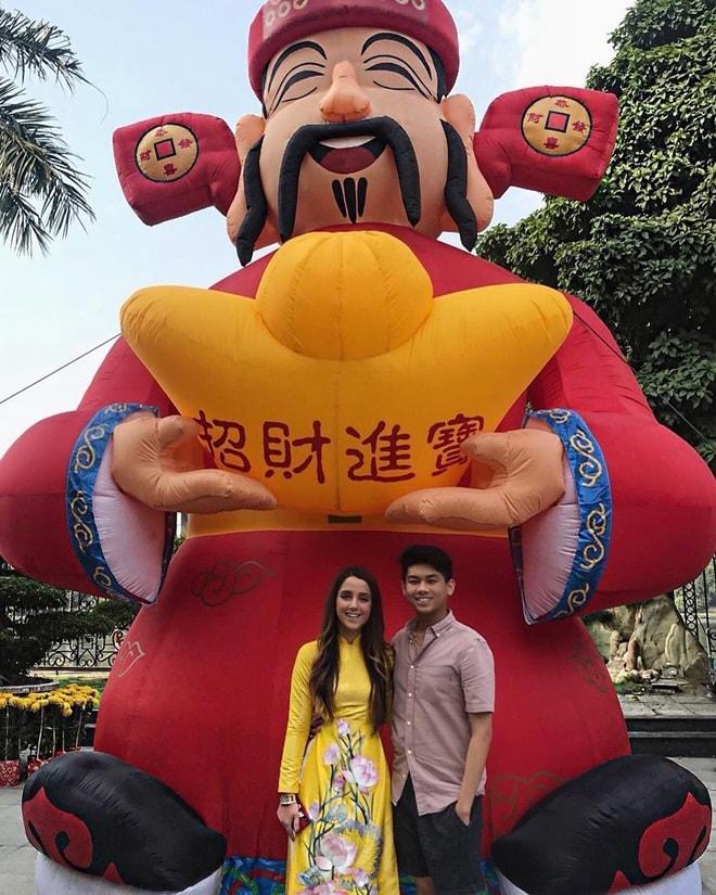 Gia đình Tăng Thanh Hà diện áo dài đón Tết - 8