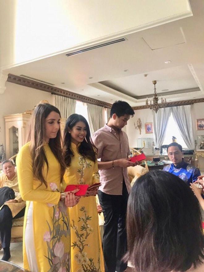 Gia đình Tăng Thanh Hà diện áo dài đón Tết - 6