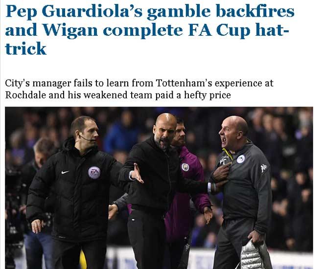 """Man City tan vỡ mộng ăn 4, báo Anh thừa dịp """"dìm hàng"""" - 2"""