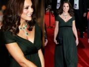 Công nương Kate bị chỉ trích vì mặc váy xanh trên thảm đỏ BAFTA