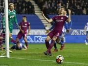 Wigan - Man City: Bước ngoặt thẻ đỏ, cú sốc lịch sử