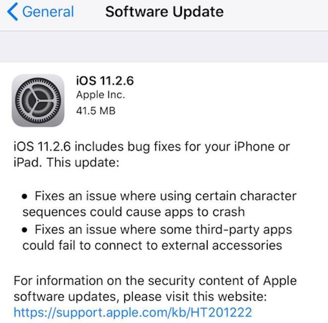 Người dùng cần cập nhật iOS 11.2.6 gấp để tránh lỗi bị treo máy - 2