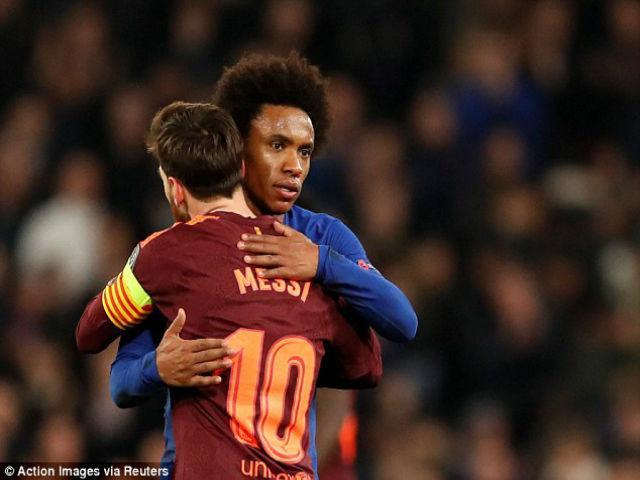 """Chelsea hòa tiếc nuối: """"Hung thần"""" Willian lớn tiếng đe dọa Barca-Messi"""