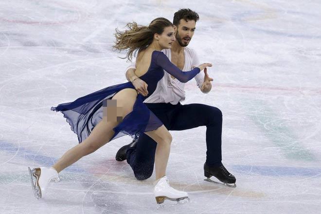 """Người đẹp hở trên lộ dưới: """"Đỏ mặt"""" ở Olympic mùa đông - 6"""