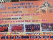 Bóng chuyền nữ hội làng:  Chân dài  Việt tưng bừng khai Xuân 2018