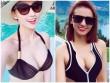 Đầu năm mới, gái 1 con Lã Thanh Huyền khoe thân hình rực lửa với bikini