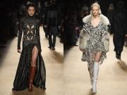 Váy xẻ cao nóng bỏng của Roberto Cavalli được khen hết lời tại Milan FW