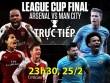 """TRỰC TIẾP bóng đá Arsenal – Man City: Aubameyang """"đọ súng"""" Aguero"""