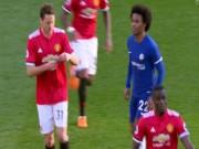 MU thắng Chelsea: Mourinho chỉ đạo bằng giấy, Willian đọc trộm bất thành