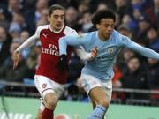 TRỰC TIẾP Arsenal - Man City: Tốc độ chóng mặt