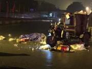 Hà Nội: Va chạm với xe tải, công nhân lái xe rác tử vong tại chỗ