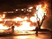 Phòng giao dịch VPBank Đồng Hới bốc cháy trong đêm