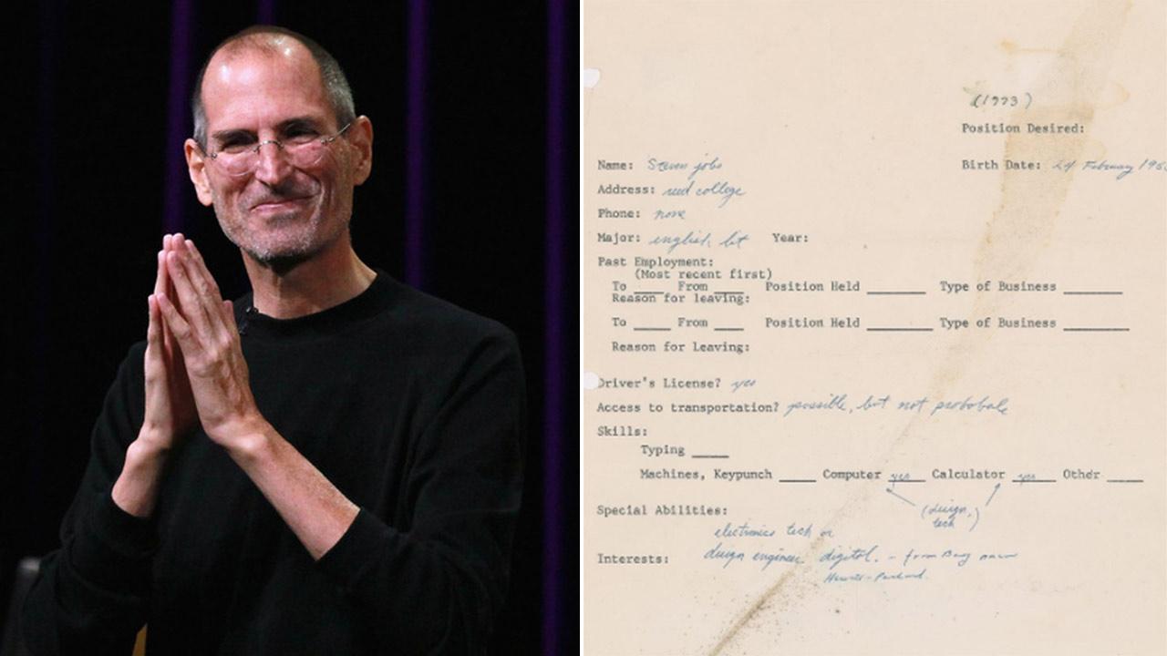 Đơn xin việc đầy lỗi chính tả của huyền thoại Steve Jobs được đấu giá cao ngất ngưởng - 1