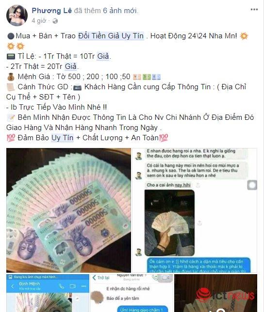 Sau Tết Mậu Tuất, rộ lên chiêu rao bán tiền giả qua Facebook - 2