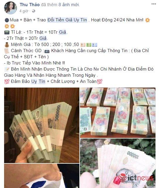 Sau Tết Mậu Tuất, rộ lên chiêu rao bán tiền giả qua Facebook - 3
