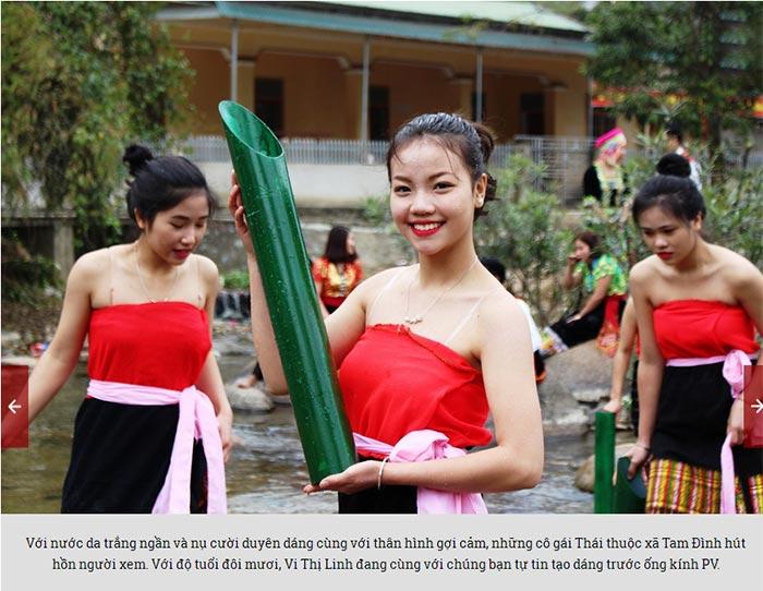 Đẹp mê hồn thiếu nữ Thái xuống suối lấy nước đầu Xuân - 1
