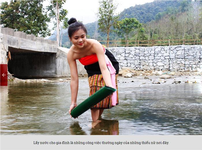 Đẹp mê hồn thiếu nữ Thái xuống suối lấy nước đầu Xuân - 5