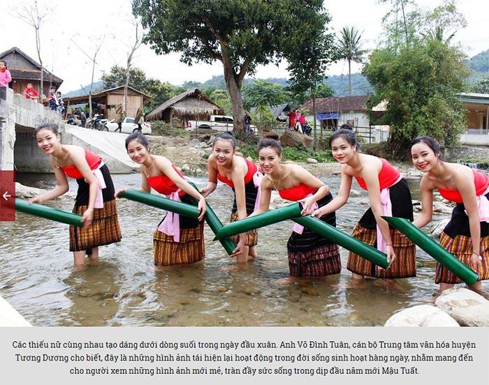 Đẹp mê hồn thiếu nữ Thái xuống suối lấy nước đầu Xuân - 6