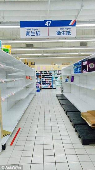 Dân Đài Loan đổ xô mua giấy vệ sinh, lãnh đạo kêu gọi bình tĩnh - 1