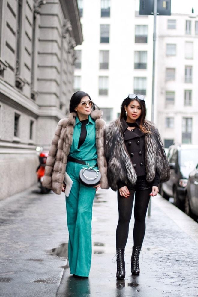 Mẹ và em chồng Hà Tăng sang trọng trên ghế đầu Milan Fashion Week - 2