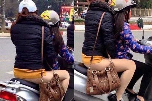 Xin chị em chớ hớ hênh khi mặc quần tất ra đường! - 3