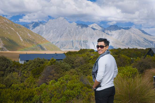 Nguyên Khang mắc kẹt giữa bão Gita ở New Zealand khi du lịch cùng mẹ - 6