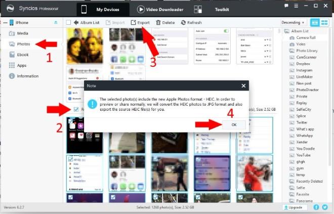 Khắc phục vấn đề ảnh chụp bởi iPhone X không đọc được trên máy tính - 3