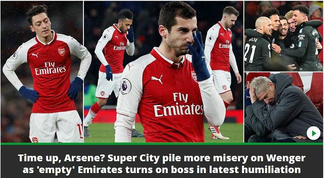 """Arsenal lại bị Man City """"hành hạ"""": Báo chí Anh hò nhau tiễn biệt Wenger - 4"""