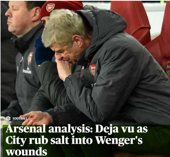 """Arsenal lại bị Man City """"hành hạ"""": Báo chí Anh hò nhau tiễn biệt Wenger - 1"""