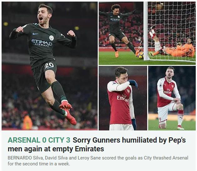 """Arsenal lại bị Man City """"hành hạ"""": Báo chí Anh hò nhau tiễn biệt Wenger - 2"""
