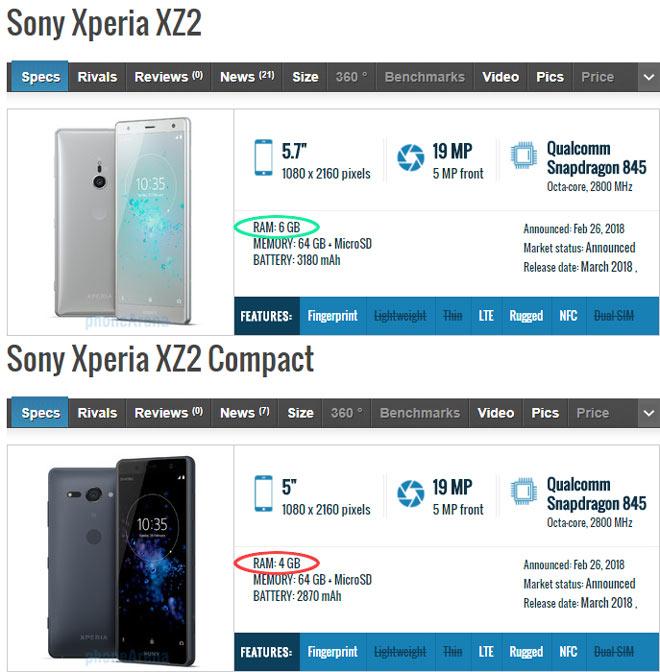 Sự khác nhau giữa Sony Xperia XZ2 và Xperia XZ2 Compact là gì? - 4