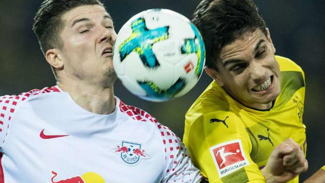 Leipzig - Dortmund: 2 bàn cân não, giằng co nghẹt thở - 1