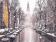 Vương quốc mùa đông thêm lung linh ảo diệu dưới trời mưa tuyết