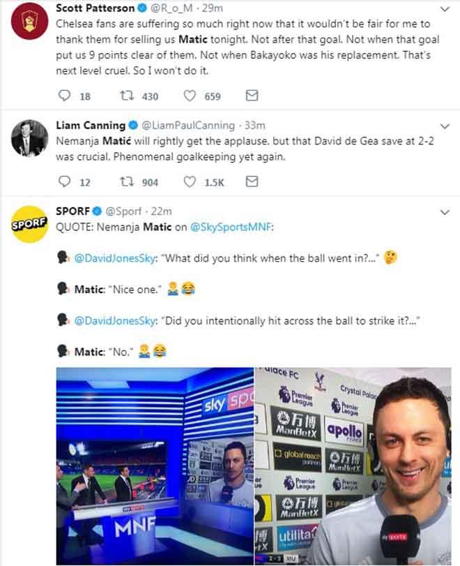 """Matic ghi siêu phẩm, MU ngược dòng: Triệu fan """"cảm ơn"""" Chelsea tặng quà - 2"""