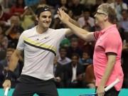 Cặp đôi tennis 90 tỷ đô: Federer quỳ gối tạo siêu phẩm, Bill Gates hả hê