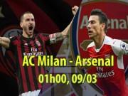 """AC Milan - Arsenal:  Pháo  vào tuyệt lộ, khó cứu  """" Giáo sư """""""