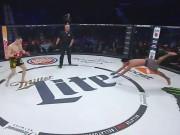 """MMA: Hóa thân  """" Chiến binh báo đen """" , bị đối thủ đánh cho sấp mặt"""