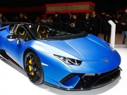 Mui trần  '  ' vạn người mê '  '  Lamborghini Huracan Spyder Performante trình làng