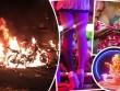 Cháy phố đèn đỏ Thái Lan, gái mại dâm chạy tán loạn
