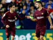 """Bàn thắng đẹp La Liga V28:  """" Song tấu """"  224 triệu euro thay Messi bung lụa"""