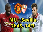 MU - Sevilla: Lukaku  lên thần , Mourinho có độc chiêu