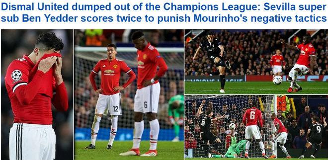 MU bị loại Cúp C1: Báo chí Anh cay nghiệt mắng Mourinho hèn nhát - 2
