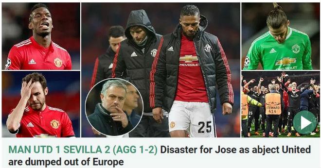 MU bị loại Cúp C1: Báo chí Anh cay nghiệt mắng Mourinho hèn nhát - 4
