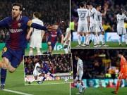 """Barca  """" tiêu diệt """"  Chelsea lập kì tích, Messi điểm 10 hoàn hảo"""